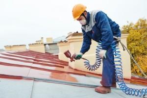 Peinture sur toit Saubens