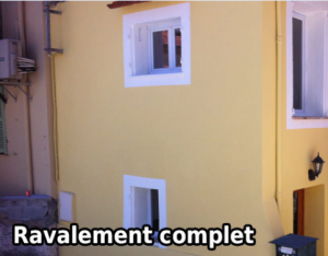 Après rénovation de façade a Villeneuve-de-Riviere